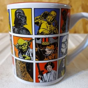 STAR WARS White & Red Mug With Characters 14 oz